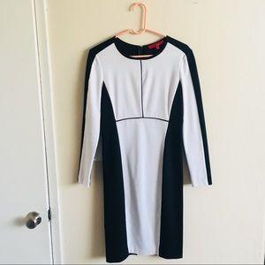 Black & white zip-back dress